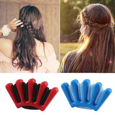 DIY Sponge Five-fingered Hair Braiding Styling Tool Braider 1pc