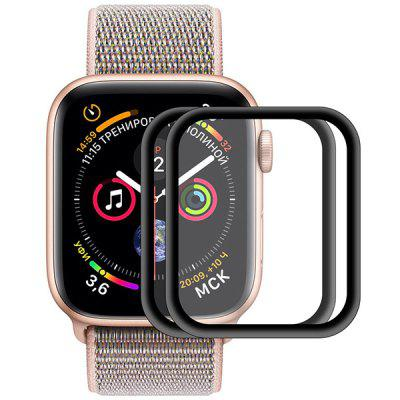 Hat - Prince 0.2mm 9H 3D Aluminum Alloy Side Full Screen Cover Tempered Glass Protective Film for 40mm Apple Watch Series 2pcs