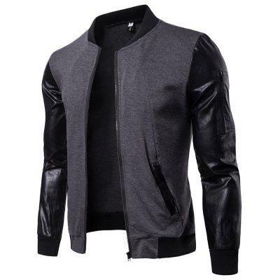 Automne British Men  's Collar Jacket Cardigan court couture couture