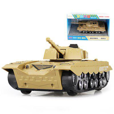Military Tank Model Toy with Flash Sound Effect
