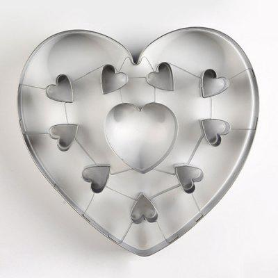 Stainless Steel Biscuit Mould Large Heart Shaped Cookie Mold DIY Baking Tool