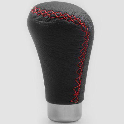 Car Tuning Gear Head Leather Red Line Universal Shift Handball