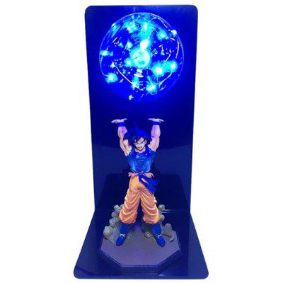 Lámpara LED Luz de Mesa de Figura de Dragon Ball Creativo para Habitación Decorativa