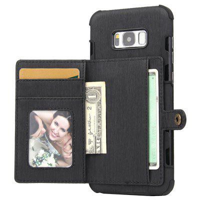 Card Slot Photo Frame Mobile Phone Holster Cover for Samsung Galaxy S8 Plus