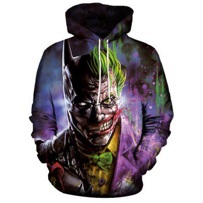 Men's Hoodie 3D Printing Fashion Purple Clown
