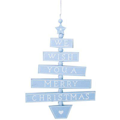 Christmas Tree Style Letter Card Decoration for Holiday Blessing