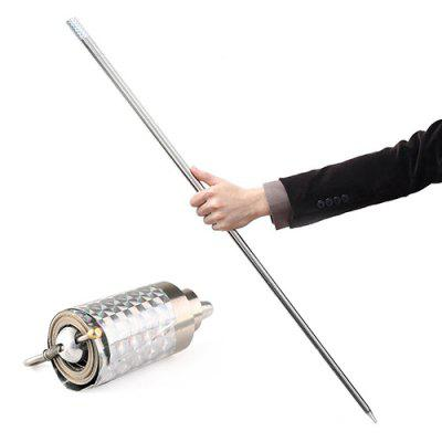 Wonderful Appearing Cane Metal Silver Magic Close up Illusion Silk to Wand Tricks Toy