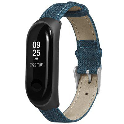 Denim Pattern Replacement Watch pulseira de correia para Xiaomi Mi Band 3