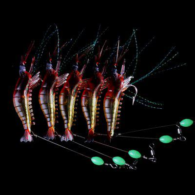 HENGJIA Luminous Bionic Shrimp Plastic Soft Fishing Bait 1pc