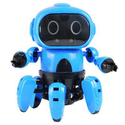 DIY Assembled Electric Robot Induction Educational Toy - DODGER BLUE