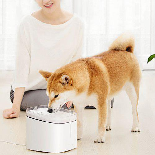 Creative Simple Pet Water Dispenser from Xiaomi Youpin MILK WHITE