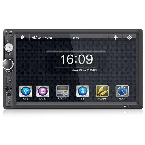 Gocomma 7010B TFT HD Touch Screen BT / FM / TF / USB Car Audio Stereo MP5 Player without Reversing Camera Display