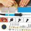 Carving Iron Kit Adjustable Temperature Soldering Iron - CRYSTAL BLUE