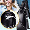 Men's Chest Bag Retro Zipper - BLACK