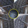 Car Tire Cleaning Tool Tire Removal Stone Cleanin Multi-tool Stainless Steel Slot Hook - SILVER