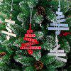 Christmas Tree Style Letter Card Decoration for Holiday Blessing - LIGHT BLUE