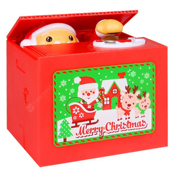 Creative Electric Music Saving Box Christmas Gift Toy - RED