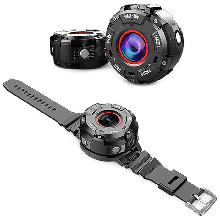 Smart WiFi Wearable Sport Camera Full HD 1080P Waterproof with Watch Band - BLACK