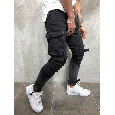 Men's Trend Handsome Multi-pocket Punk Pants