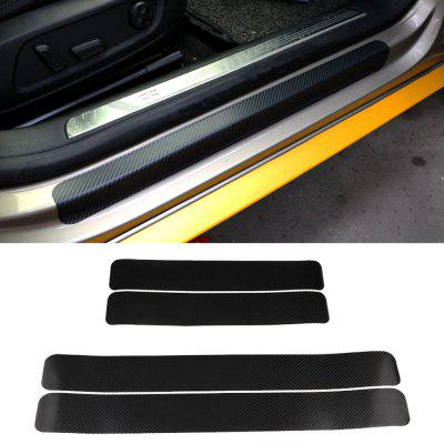 Universal Car Carbon Fiber Door Panel Glazing Anti-wear Cover Anti-scratch Sticker 4pcs
