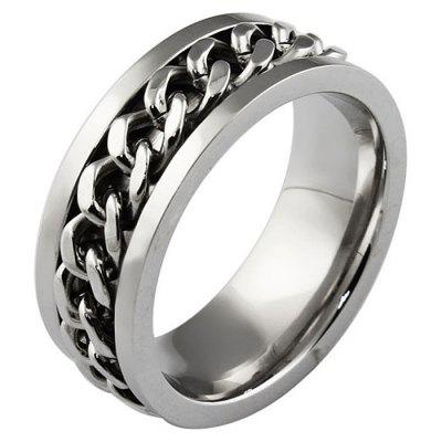 Chain Ring Silver Fashion Men