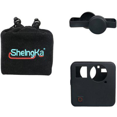 Sheingka 3 in 1 Kit Camera Bag + Silicone Case + Lens Cover for GoPro Fusion Action Cameras