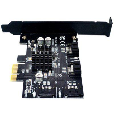 PCI Express 1x to 4 Port SATA 3.0 6G Expansion Controller Card