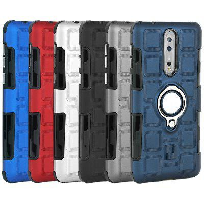 Creative Ring Buckle Anti-drop Magnetic Car 2 in 1 Mobile Phone Case for Nokia 8