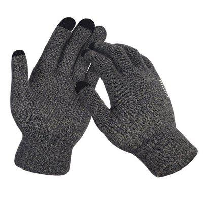Touch Screen Knit Wool Plus Velvet Warm Riding Non-slip Gloves
