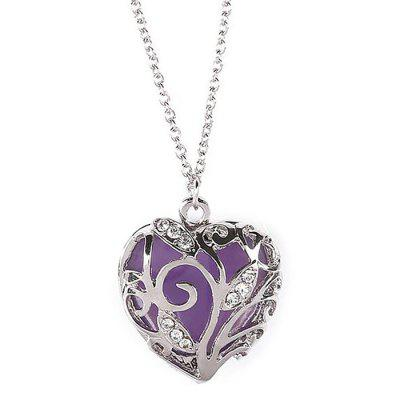 Necklaces Luminous Heart-shaped Pendant