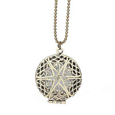 Necklaces Phase Box Design Vintage Pendant Hollow Luminous
