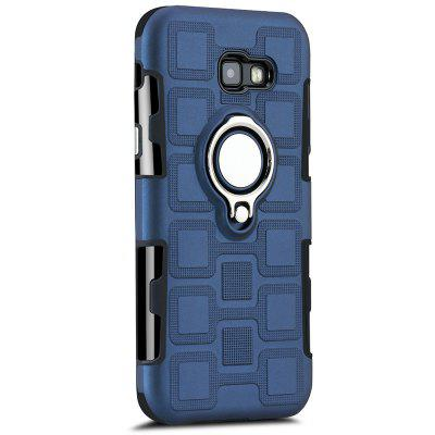 Creative Ring Buckle Anti-drop Magnetic Car 2 in 1 Mobile Phone Case for Samsung Galaxy A7 2017