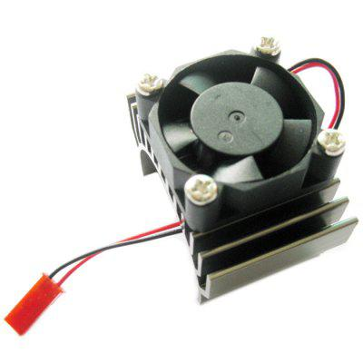 Aluminum Alloy 540 / 550 Brushed Brushless Motor Heatsink Radiator with Fan JST Connector for 1/8 1/10 RC Car 1pc