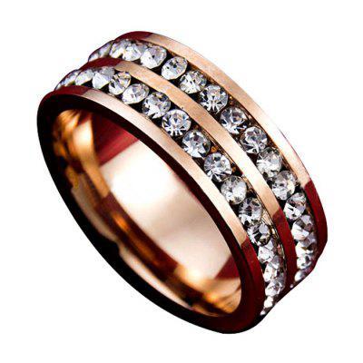 Double Row Rhinestone Fashion Ring