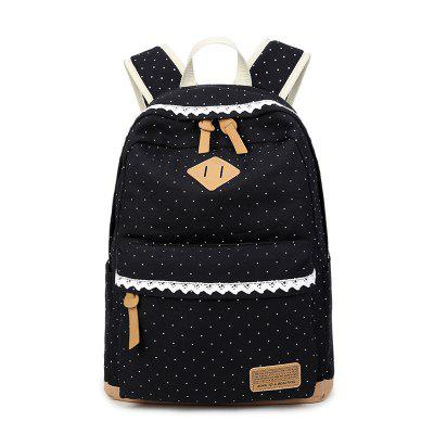 Female Laptop Bag Canvas Printing Backpack