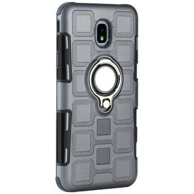 Creative Ring Buckle Anti-drop Magnetic Car 2 in 1 Mobile Phone Case for Samsung Galaxy J7 2017