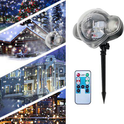 Outdoor Waterproof Snowflake Projection Lamp LED Lawn Laser Light for Christmas Day Decoration