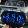 Car Electronic Luminous Clock Thermometer - GREEN