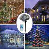 Outdoor Waterproof Snowflake Projection Lamp LED Lawn Laser Light for Christmas Day Decoration - BLACK