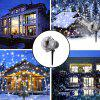 LED Outdoor Snowflake Projection Lamp Christmas DecorationLight - BLACK