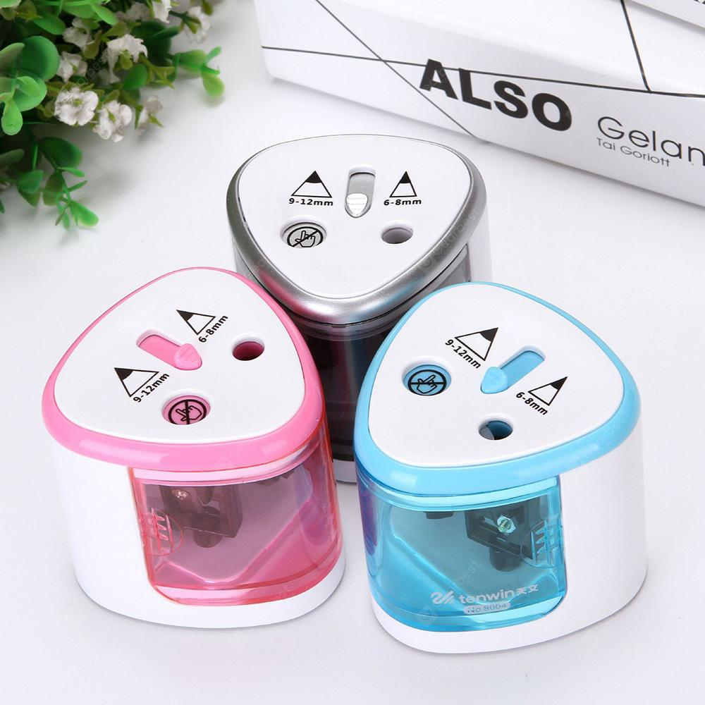 Automatic Plastic Electric Pencil Sharpener Student Supplies - WHITE