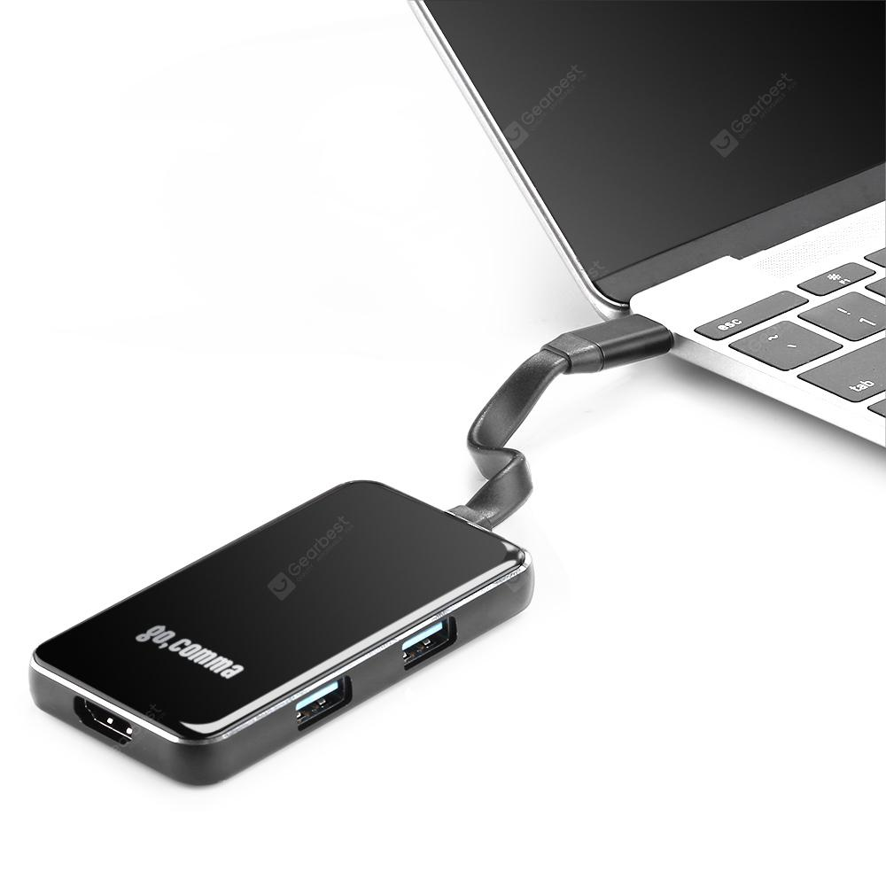 6 Gummy in 1 USB 3.1 Type-C Hub Aluminum Alloy Adapter