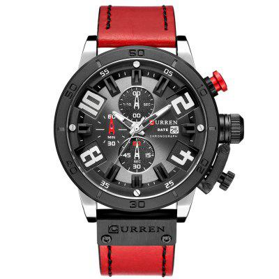 CURREN Carrian Waterproof Round Watch