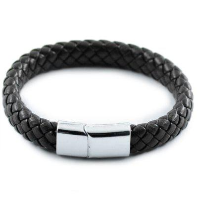 Trade Retro Leather Bracelet Simple Fashion Stainless Steel Magnet Suction Stone Buckle Bracelet