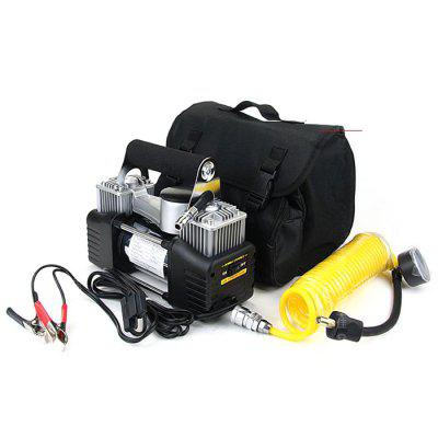 Car Air Pump Double Cylinder Pumping Parallel Bars Truck Tires Refilling Portable High Power 12V