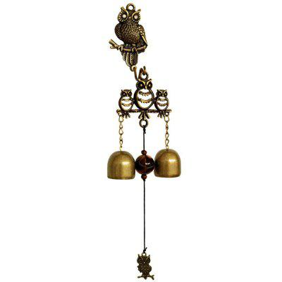 Owl Hanging Decoration Creative Metal Shop Doorbell Wind Chime