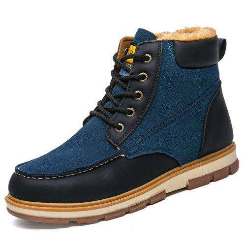 VANCAT Men Brushed Winter Warm High-top Boots