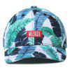 NUZADA Printed Baseball Cap Men Women Hip Hop Hat - MEDIUM TURQUOISE