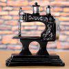 Creative Retro Sewing Machine Piggy Bank Home Ornaments Resin Crafts Toy - SILVER