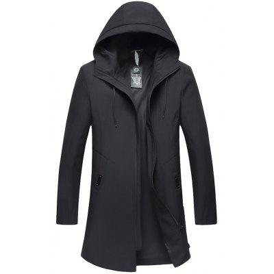 Men Comfortable Jacket Slim Hooded Long Sleeve